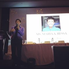 Maria Ressa is now on stage! #PNHRSph #SafePH #HealthResearchPH #PLDThomefiber