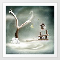 Winter Season Art Print by texnotropio Winter Season, Seasons, Art Prints, Winter, Art Impressions, Seasons Of The Year
