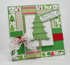 Santa Claus Is Coming To Town By Dawn Laston #Cardmaking, #Christmas