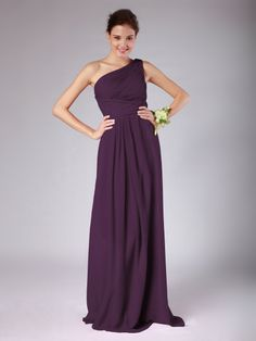 Pin to Win a Wedding Gown or 5 Bridesmaid Dresses! Simply pin your favorite dresses on www.forherandforhim.com to join the contest!   One Shoulder Pleated Dress £113.54