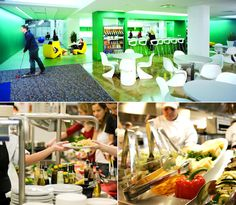 Google's cafeteria looks far out and so cool-who would not want to eat there