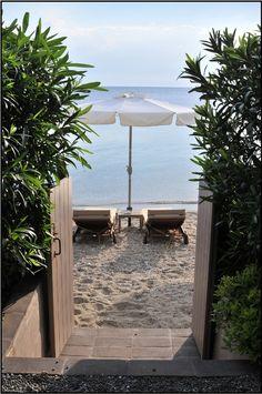 """I walked along the stones barefoot. A few steps away lied the sandy beach..."" Greece Afissos Volos"