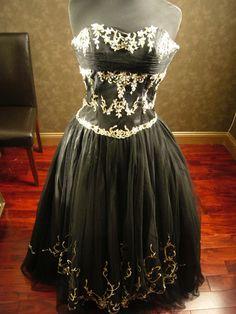 Black Wedding Dress by WeddingDressFantasy on Etsy, $300.00