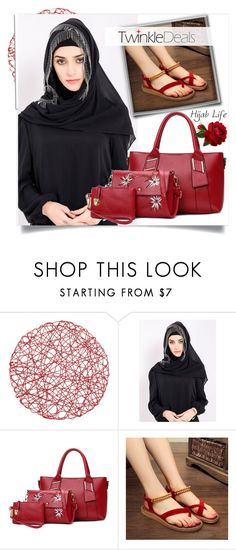 """Twinkledeals Hijab life"" by fashion-with-lela ❤ liked on Polyvore featuring White Label, hijab and hijablife"