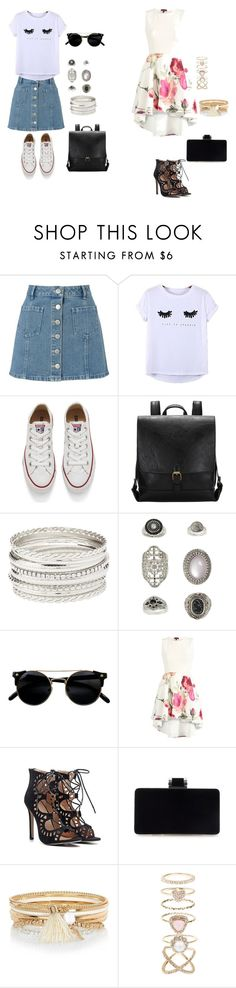 FASHION LOW COST: Casual and Floral look!! by federica-cristiano on Polyvore featuring moda, Chicnova Fashion, Miss Selfridge, Converse, Accessorize, Topshop, River Island and Charlotte Russe