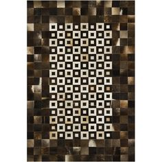 Lounge rug - modern cowhide pattern