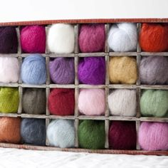 Soda crate yarn storage
