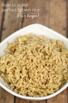 How to cook perfect brown rice recipe brown rice and rice ccuart Images