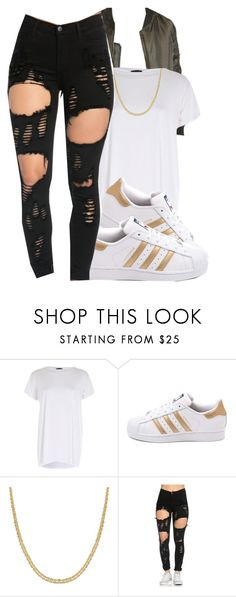 """"" by eazybreezy305 ❤ liked on Polyvore featuring River Island, adidas, Reeds Jewelers, DOPE, Trendy and 2016"