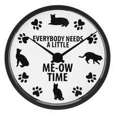 Me-Ow Time Clock at The Animal Rescue Site