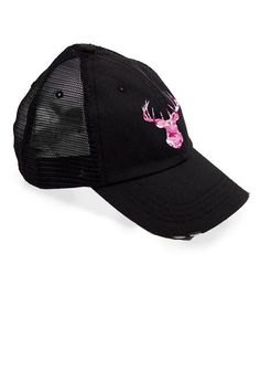 Women's Country Girl ® Deer Head Pink Camo Trucker Hat