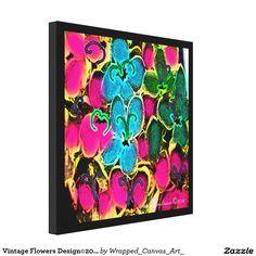 Vintage Flowers Design©2016CaroleTomlinson Canvas Print
