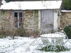 the french garden shed ..... via My French Country Home Sharon Santoni