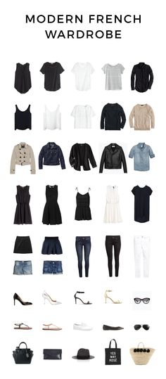 Modern French Wardrobe | What a beautiful capsule!