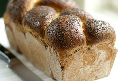 Farmhouse Whole Wheat Bread-why are't we baking?? The smell of fresh bread--heaven.