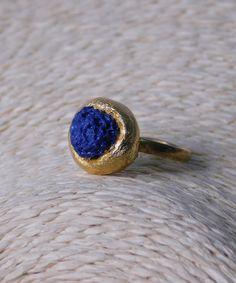 Δαχτυλίδι με Πέτρα Λάβας Druzy Ring, Fashion Boutique, Sapphire, Rings, Jewelry, Products, Jewlery, Jewerly, Ring