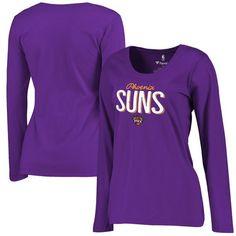 Phoenix Suns Fanatics Branded Women's Nostalgia Plus Size Long Sleeve T-Shirt - Purple - $34.99