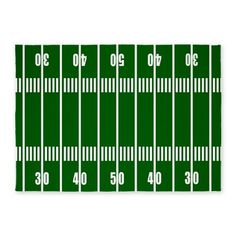 Football field area rug. Protect the carpet underneath from game-time munching!