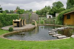 small garden ponds for bathing and swimming