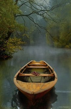 """julesfalkhunter: The Old Lake by Carlos Casamayor One of these days I'm going to be rowing an old boat across the lake … Stunningly beautiful image . heartbeatoz: """"The Old Lake"""" Fine Art Print by Carlos Casamayor - RedBubble Take A Deep Breath, Jolie Photo, Wooden Boats, New Beginnings, The Great Outdoors, Serenity, Old Things, Inspirational Quotes, Motivational Quotes"""