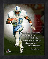 NFL Jersey's Women's Detroit Lions Barry Sanders Nike Blue Retired Game Jersey