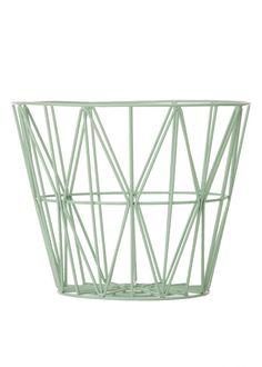 Wire Basket in Mint by Ferm Living