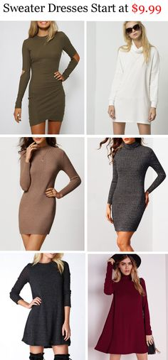 Fashion sweater dress from m.shein.com