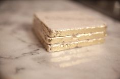 DIY gold foil marble coasters