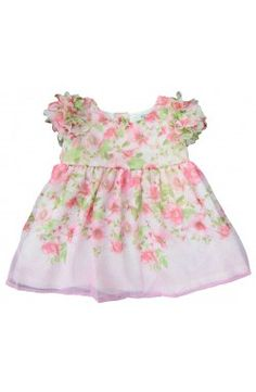 00d8ae275be47 Vestido de bebé con estampado floral color rosa Mayoral