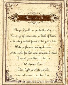 printable witches spell book pages | up with the spells to include ...