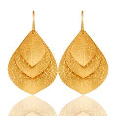 Leaf-Design-Handmade-Traditional-Dangle-Earrings-18k-Gold-Plated-Fashion-Jewelry  #jewelry #fashionjewelry #Jewelrylover #fashionista #gemstonejewelry