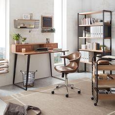 Home Office, Office Desk, Corner Desk, New Homes, Furniture, Home Decor, Garden, Natural Colors, Closet Storage