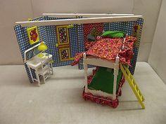 Wow!: 1975 Growing Up Skipper 2 in 1 Bedroom Barbie Playset Sears Exclusive w Box   eBay