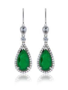 Esmeraldas inspiradas en Cleopatra #esmerldas #pendientes #joyas #diamantes