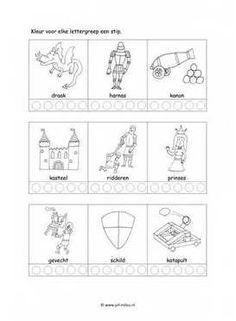 Dit taal werkblad en nog veel meer in het thema ridders en prinsessen kun je downloaden op de website van Juf Milou.