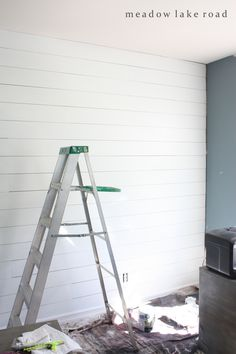 plank wall painted