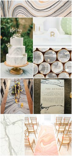 marble wedding decor / innovative. maybe too modern for us? but beautiful!