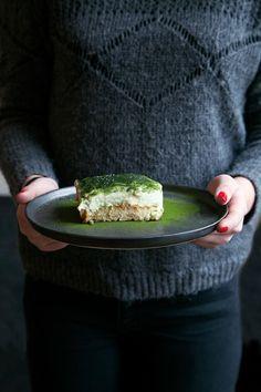 Two words: matcha tiramisu. | Get Your Organic Matcha Today: http://www.amazon.com/MATCHA-Green-Tea-Powder-Antioxidants/dp/B00NYYVWFQ/