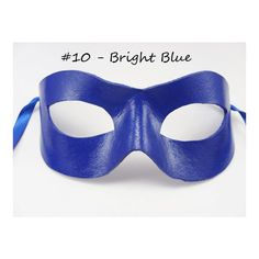 Classic Hero Mask, Leather Domino, Solid Color Mask, Super Dress Up... (28 AUD) ❤ liked on Polyvore featuring costumes, masquerade costume, masquerade halloween costume, blue halloween costume, prom halloween costumes and blue costume