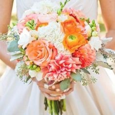 Wedding Nail Colors, Wedding Nails, Bouquet Flowers, Flower Bouquet Wedding, Live Coral, Color Of The Year, Pantone Color, Boho Wedding, Wedding Inspiration