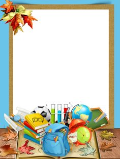 Boarder Designs, Page Borders Design, School Border, School Scrapbook Layouts, Boarders And Frames, School Frame, Kids Background, Borders For Paper, Writing Paper