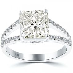4.62 Carat J-SI1 Radiant Cut Natural Diamond Engagement Ring 14k White Gold - Liori Exclusive Engagement Rings - Engagement - Lioridiamonds.com