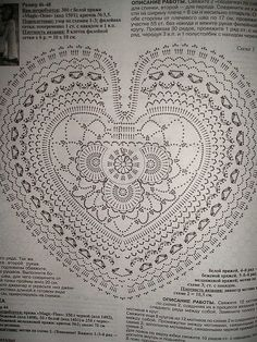 Crochet heart, Free pattern