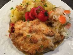 Tepsis hús Baked Potato, Potatoes, Meat, Chicken, Baking, Ethnic Recipes, Food, Red Peppers, Potato