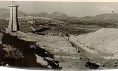 Obras de construcción del pantano del Cubillas. Fecha desconocida. Torres Molina/Archivo de Ideal