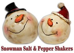 Snowman Salt & Pepper Shakers are so cute for the Christmas table. Just $6.99 for the set!