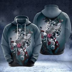 Love Store, Flower Skull, High Definition, Arms, Just For You, Hoodies, Zip Hoodie, Flowers, Fabric