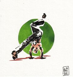 Encres : Capoeira - 145 [ #capoeira #ink #painting ]