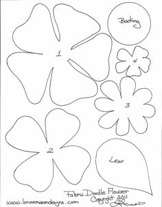 Free Printable Paper Flower Templates | scissors paper and sewing decorative edge if desired pencil pattern ...