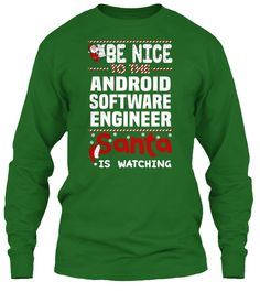 Be Nice To The Android Software Engineer Santa Is Watching.   Ugly Sweater  Android Software Engineer Xmas T-Shirts. If You Proud Your Job, This Shirt Makes A Great Gift For You And Your Family On Christmas.  Ugly Sweater  Android Software Engineer, Xmas  Android Software Engineer Shirts,  Android Software Engineer Xmas T Shirts,  Android Software Engineer Job Shirts,  Android Software Engineer Tees,  Android Software Engineer Hoodies,  Android Software Engineer Ugly Sweaters,  Android…